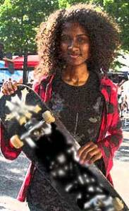 skateboard girl- Wikimedia Commons